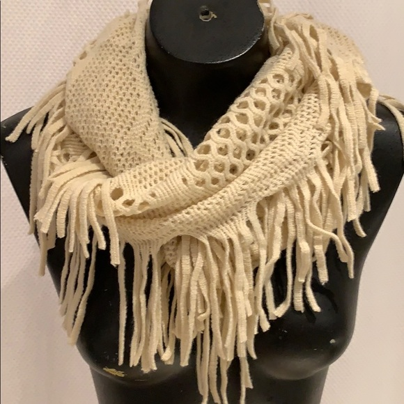Accessories - Fringe Infinity Scarf